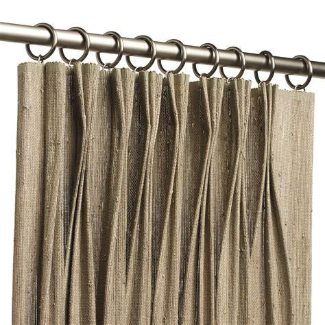 roll pleat drapery natural woven drapery hartmann forbes