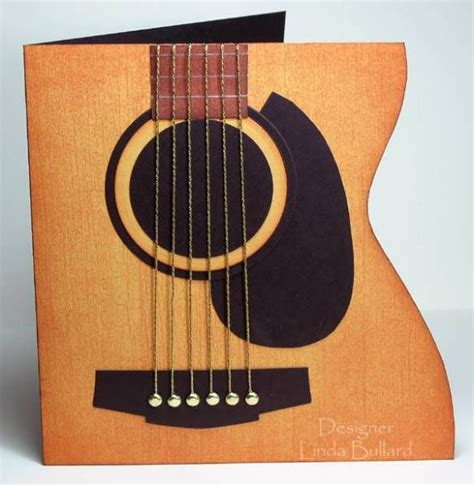 Paper Guitar Craft - guitar card by labullard cards and paper crafts at
