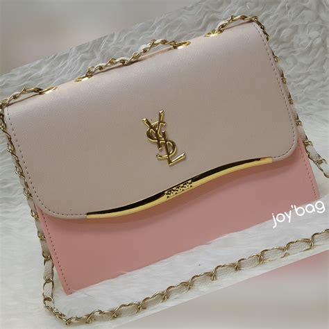jual tas wanita tas murah tas selempang tas ysl box 2tone