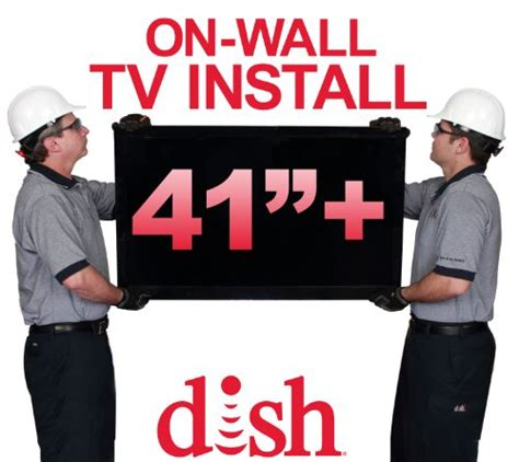 Dish Network Background Check Dish Network Premium On Wall Tv Install For Tvs 41 Inches Or Larger Desertcart