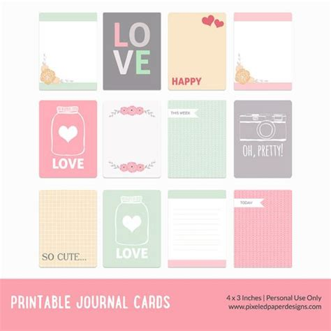printable journal notes free printable journal cards valentine join 4 200
