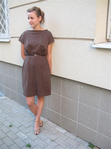 The Litte Brown Dress Project by Casual And Comfy Brown Dress Sewing Projects