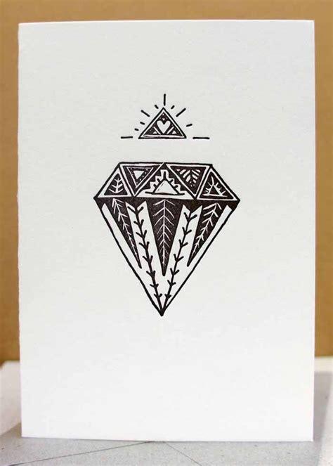 black diamond tattoo hartford letterpress black diamond card hand drawn tribal style