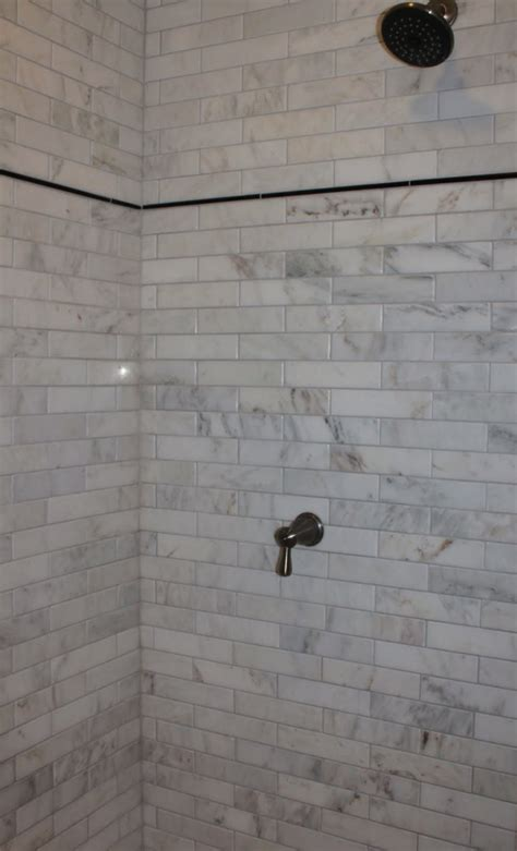 marble and subway tile bathroom marble subway tile shower offering the sense of elegance