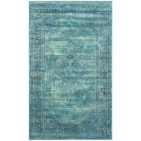 safavieh vintage turquoise multi 5 safavieh vintage turquoise multi 3 ft 3 in x 5 ft 7 in area rug vtg112 2220 3 the home depot