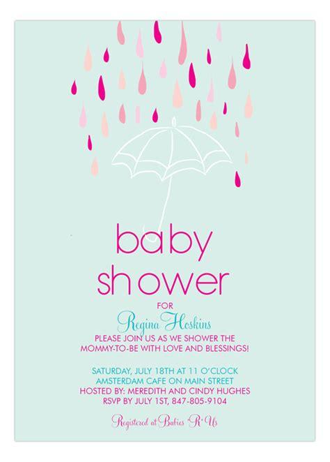 Baby Shower Umbrellas by Baby Shower For Umbrella Invitation