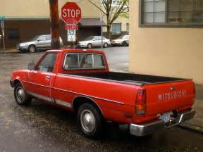 Mitsubishi Mighty Max Truck Parked Cars 1982 Mitsubishi Mighty Max
