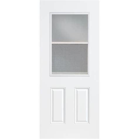 36 front door masonite 36 in x 80 in vent lite primed smooth