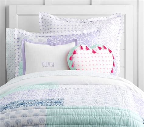 mila patchwork quilted bedding pottery barn