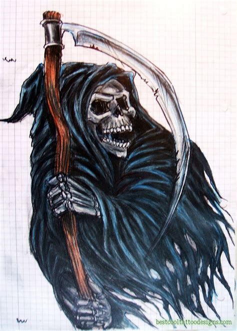 reaper tattoos designs grim reaper designs best cool designs