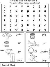 letter j wordsearch enchantedlearning