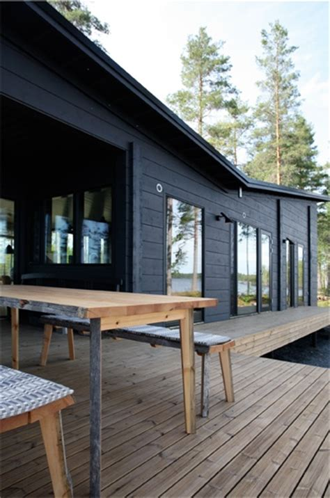 Black Cabin by Black Exterior Wood Decking Architecture Ii