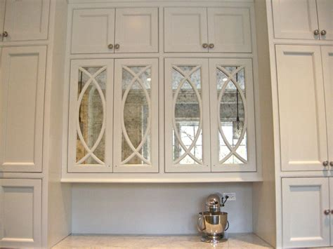 Antiqued Mirror Kitchen Cabinets Contemporary Kitchen Mirrored Kitchen Cabinet Doors