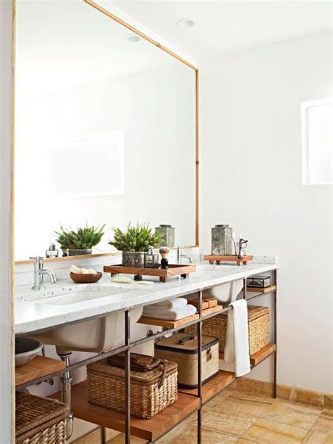 open shelving bathroom vanity these bathroom storage ideas are off the shelf the accent