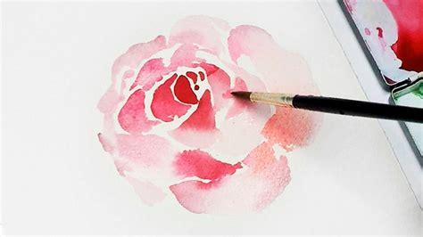 watercolor tutorial flowers youtube lvl2 flower painting tutorial youtube