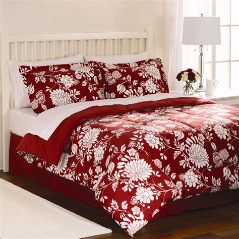 red floral comforter cannon red dot floral comforter
