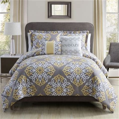 yellow twin comforter buy yellow grey comforter from bed bath beyond