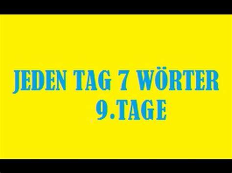 jeden tag liegestütze jeden tag 7 w 246 rter deutsche wortschatz 9 tag