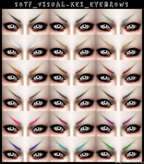 how to soften hair on eyebrows and get them to lay down soft visual kei eyebrows at decayclown s sims 187 sims 4 updates