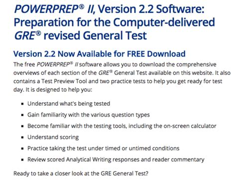 gre test ets gre practice test powerprep ii the official guide