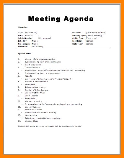 4 staff meeting agenda sle sephora resume