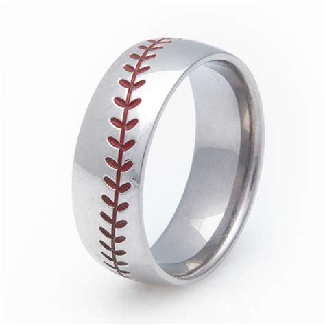 s titanium baseball wedding ring titanium buzz