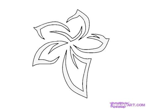 how to draw a tribal flower tattoo step by step tattoos
