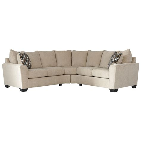 benchcraft sofas benchcraft by ashley wixon 2 piece corner sectional with