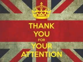 thank you for your attention poster tks keep calm o matic