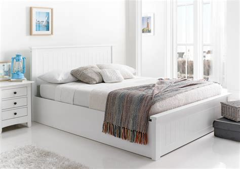 ottoman white bed new england white wooden ottoman storage bed painted
