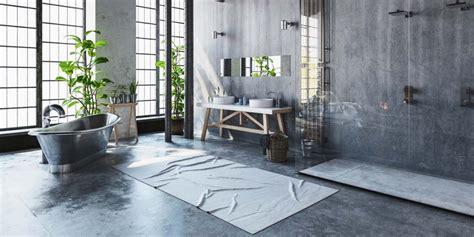 spiegelschrank groß badezimmer teppich design