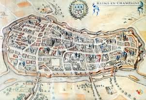 Reims France Map by Reims Old Map