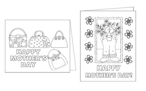 mothers day card templates to color free free printable s day cards