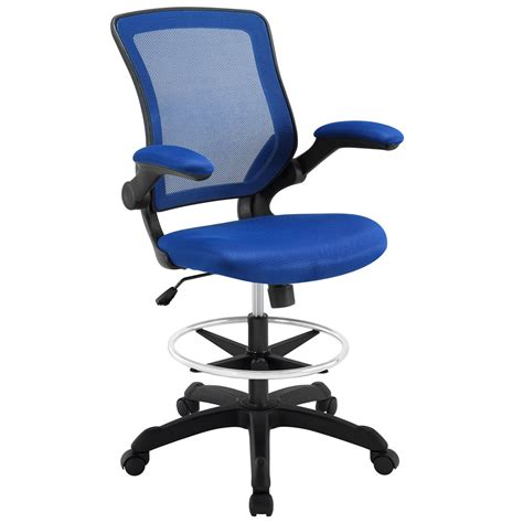 blue upholstered desk chair veer modern ergonomic mesh back upholstered office chair blue