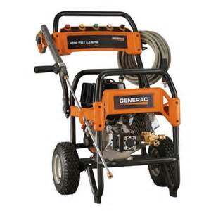 power washer home depot generac 4 200 psi 4 0 gpm ohv engine triplex gas