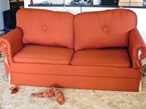 couch recovering reupholster your own rv sofa rv life pinterest