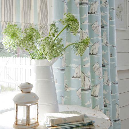 seaside curtain material maritime fabric collection skipper seashells