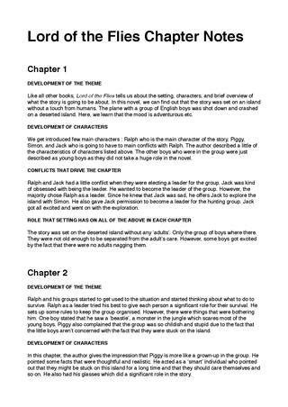 Lord of the flies chapter notes by HanGyeol Choe - Issuu
