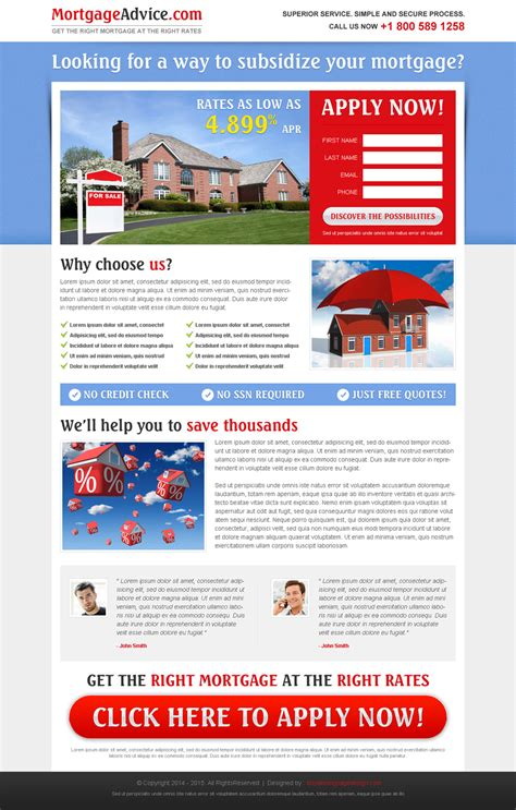mortgage landing page templates mortgage landing page design templates for best conversion