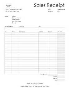 Retail Receipt Template by 7 Free Sales Receipt Templates Word Excel Formats