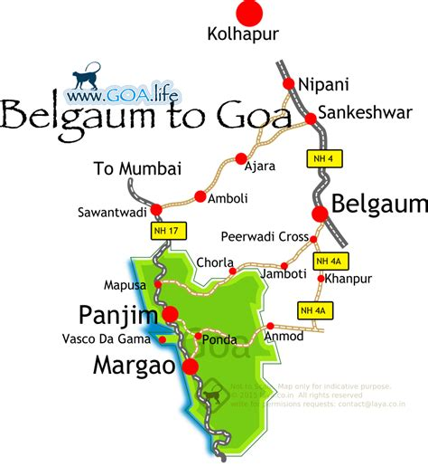 road map from mapusa to belgaum 187 belgaum to goa routes