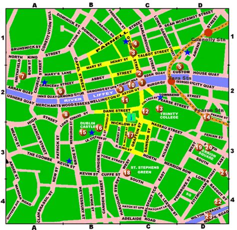 printable map dublin city centre dublin city centre map printable