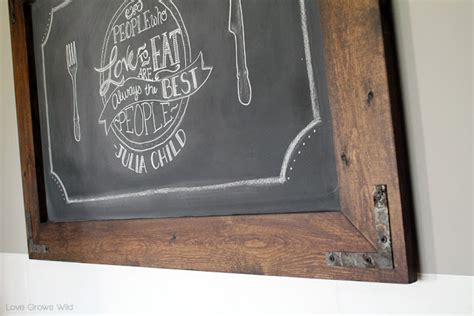 diy chalkboard wood diy rustic industrial chalkboard grows