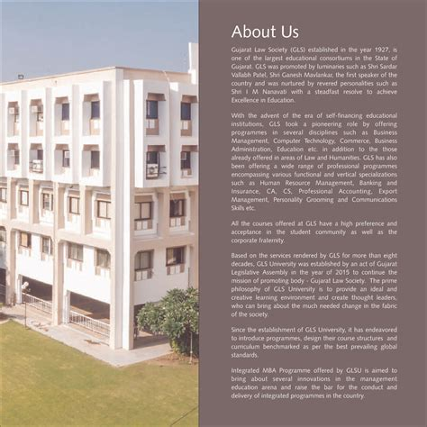 Gls Mba Faculty by Gls Ahmedabad Admissions Contact Website