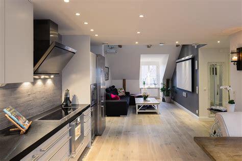 elegant small  bedroom modern attic apartment