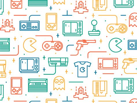 design pattern game retro games seamless pattern 2 by catalin mihut dribbble