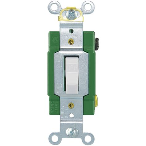 shop eaton single pole white light switch at lowes