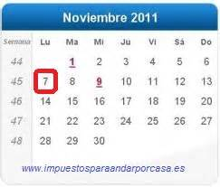 actualizacion rentas ipc noviembre 2011 el lunes es el 218 ltimo d 205 a para pagar el segundo plazo de