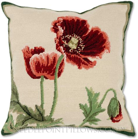 Floral Decorative Pillows Poppies Floral Decorative Sofa Throw Pillow Ebay