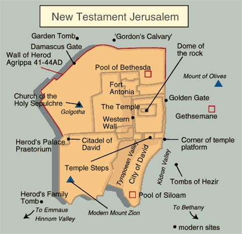 map of new testament jerusalem biblical times jerusalem map during time of jesus in new